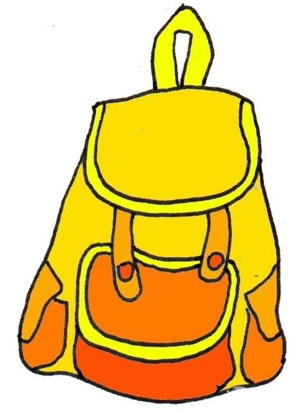 卡通画背包的绘画步骤四 箱包的款式也由传统的商务包,书包,旅行包向
