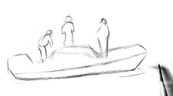 北京画室_素描:捕鱼的绘画步骤