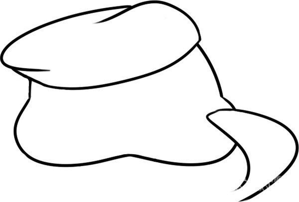 趣味简笔画:小小海军绘画步骤一