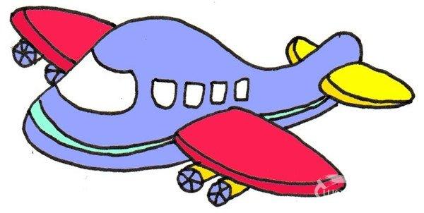 儿童画飞机的图画大全_儿童飞机图画