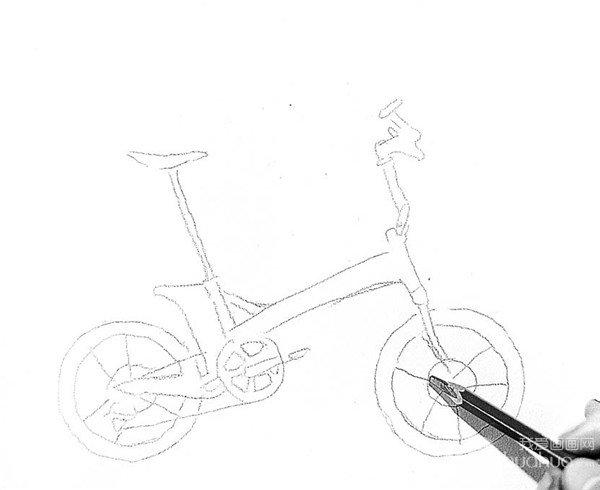 素描:自行车的绘画步骤