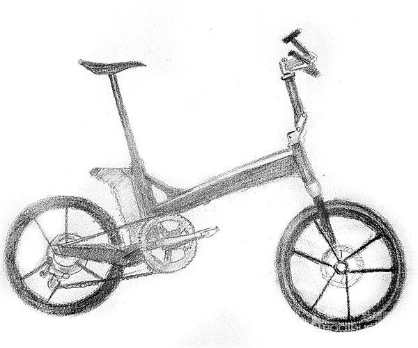 素描:自行车的绘画步骤(4)图片