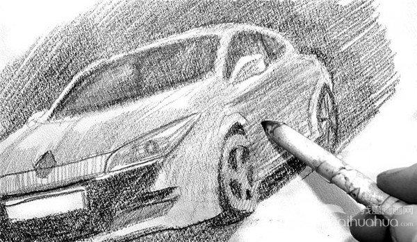 素描:轿车的绘画步骤(4)