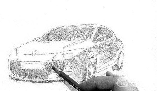 > 素描:轿车的绘画步骤   素描:轿车的绘制步骤    1,按照比例和透视