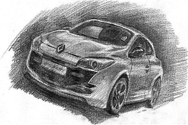 素描:轿车的绘画步骤