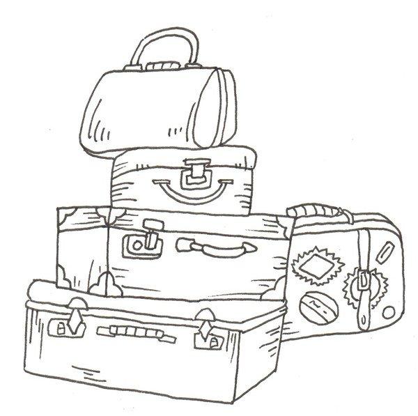 卡通画:行李箱的绘画步骤(2)