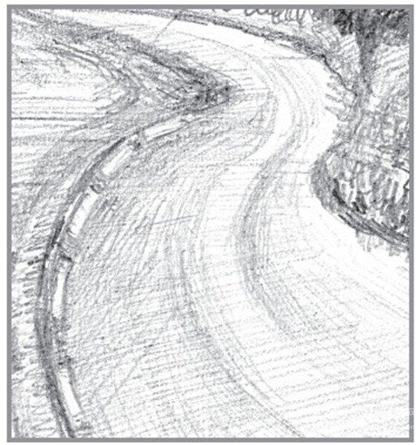 素描:公路的联想的绘画步骤(5)