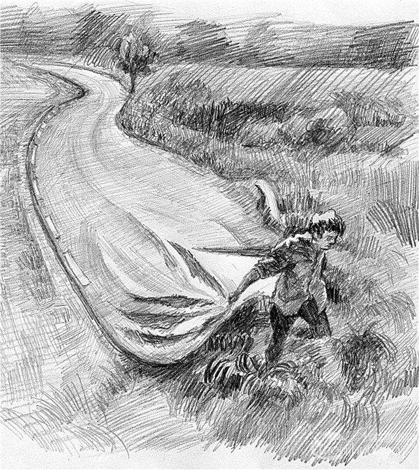 素描:公路的联想的绘画步骤(7)