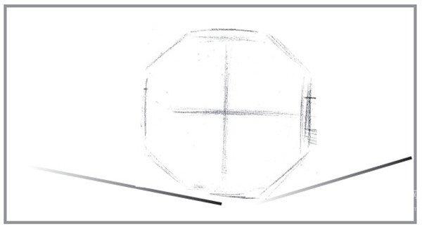 时间的流逝的 绘画步骤    1,首先观察好时钟与想象中的翅膀的比例图片
