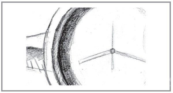 素描翅膀正面步骤图
