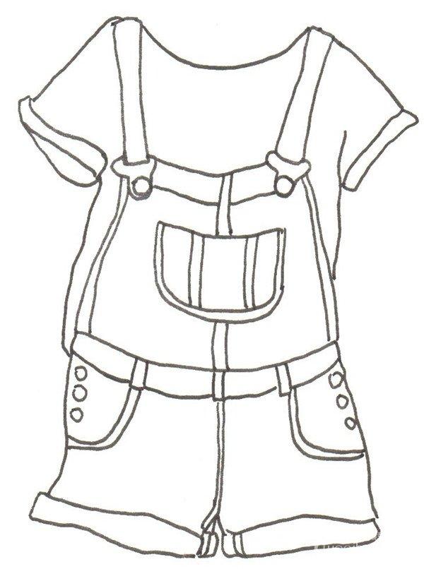 卡通画服装搭配的绘画步骤