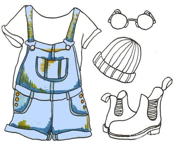 卡通画服装搭配的绘画步骤(3)_儿童画教程_学画画_我