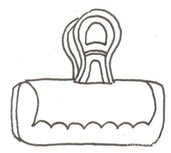 卡通画:夹子的绘画步骤(3)_儿童画教程_学画画_我爱