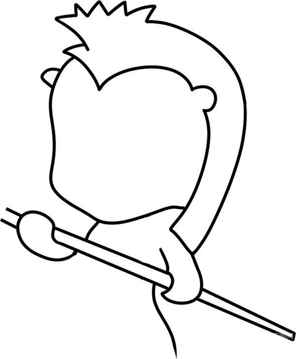 趣味简笔画:海马小护卫绘画步骤(2)