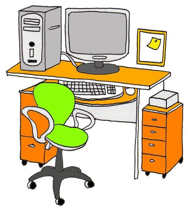 卡通画工作台的绘画步骤(5)_儿童画教程_学画画_我爱