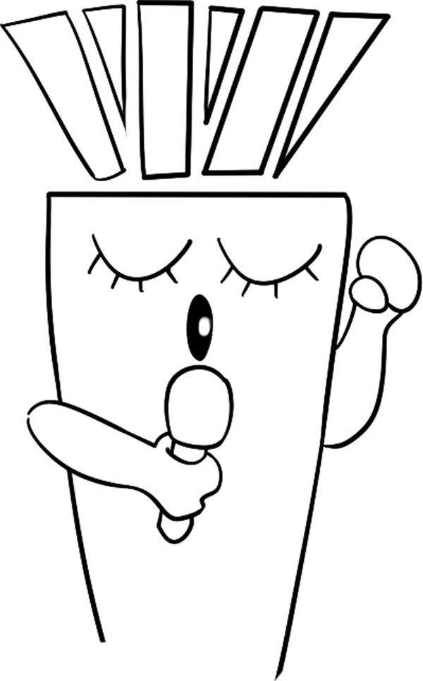 趣味简笔画:唱歌的胡萝卜绘画步骤(3)