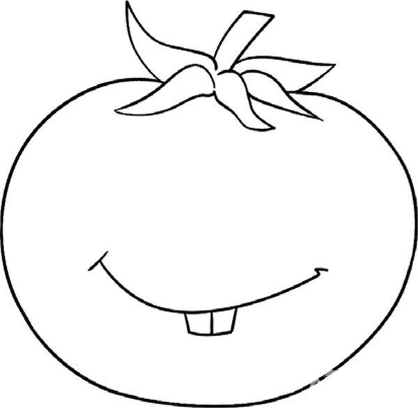 趣味简笔画 鲜美多汁的西红柿绘画步骤 3