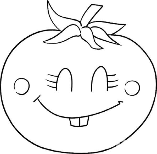 趣味简笔画 鲜美多汁的西红柿绘画步骤 4