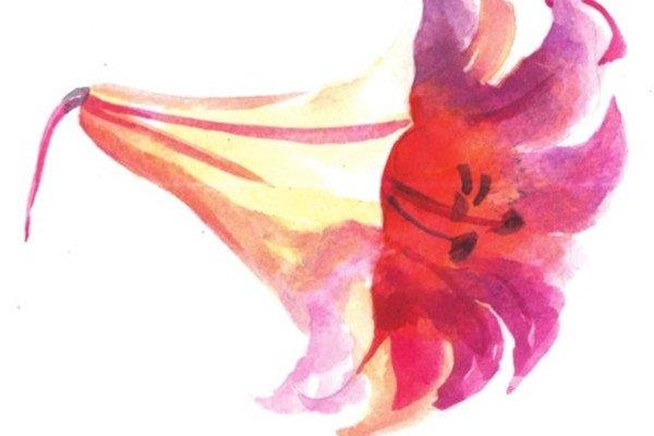 水彩技巧:花草的基本画法