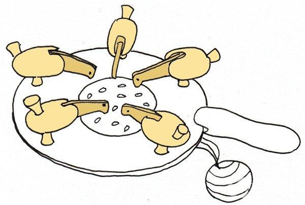 卡通画:小鸡啄米的绘画步骤(3)
