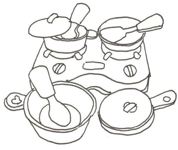 卡通画:过家家的绘画步骤教程(3)
