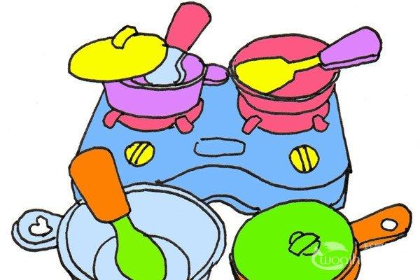 卡通画:果酱的绘画步骤