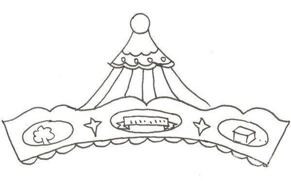 卡通画:旋转木马的绘画步骤