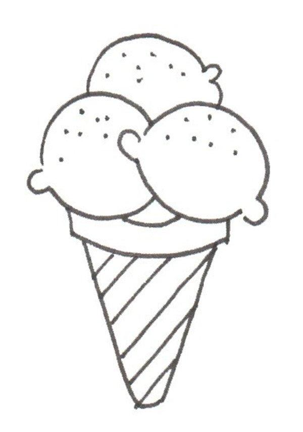 卡通画:冰淇淋的绘画教程(3)_儿童画教程_学画画_我爱