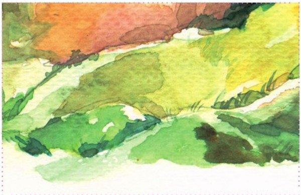水彩技巧:山石的表现教程(3)