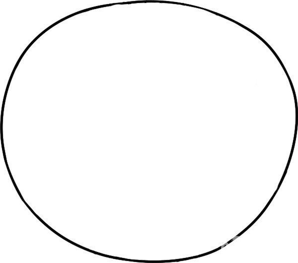 趣味简笔画:圆圆的西瓜绘画步骤