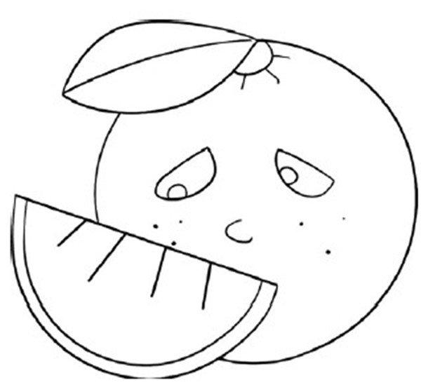 趣味简笔画:美味的橙子绘画步骤(4)
