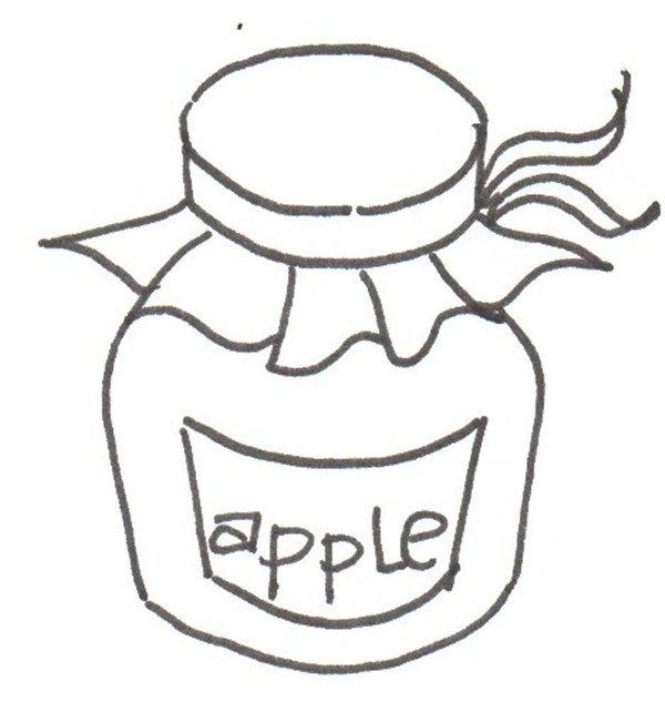 卡通画:果酱的绘画步骤(3)