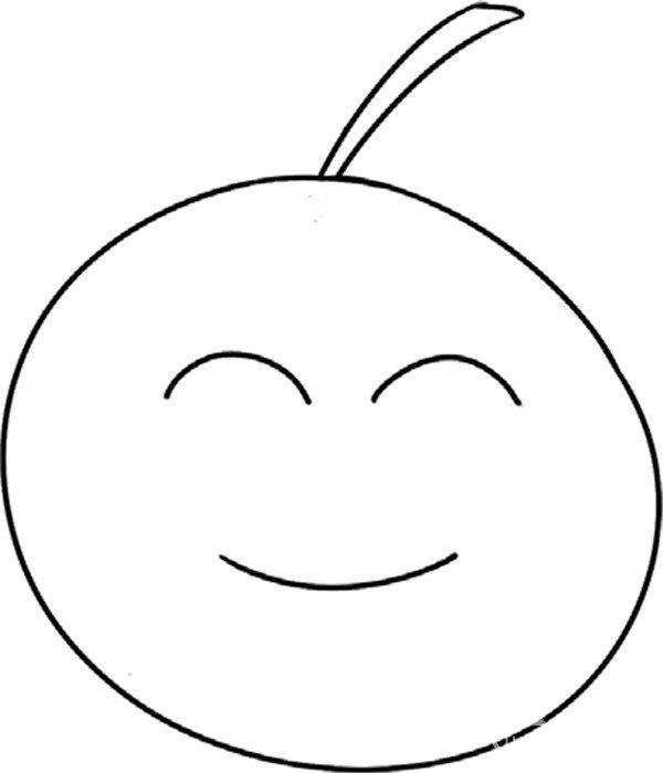 趣味简笔画:好吃的橘子绘画步骤(3)