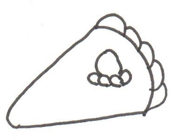 卡通画:蛋糕的绘画步骤(3)