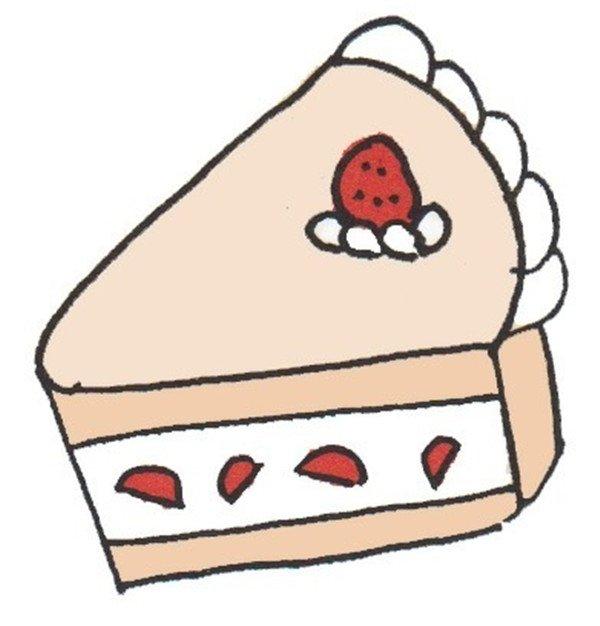 卡通画:蛋糕的绘画步骤(5)_儿童画教程_学画画_我爱