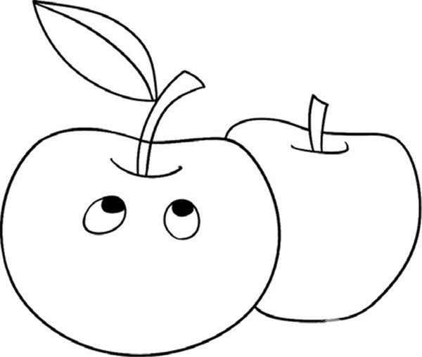 """幼儿园卡通人物简笔画图片大全""""apple"""""""