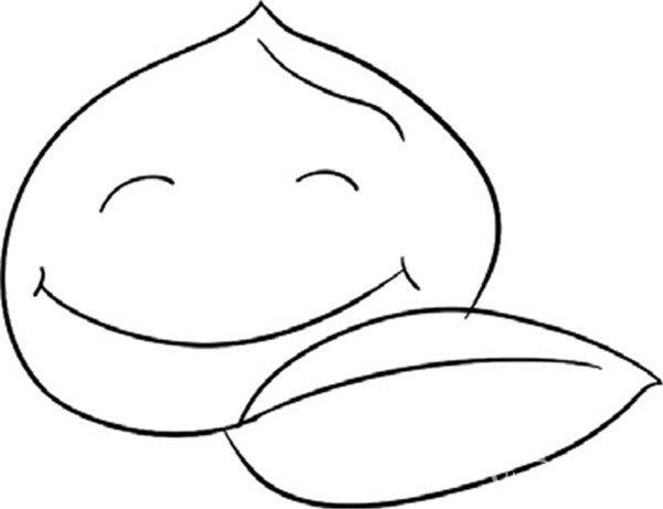 趣味简笔画:甜美的桃子绘画步骤二-趣味简笔画 甜美的桃子绘画教程