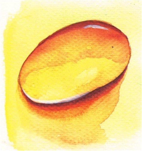 水彩画水滴的画法