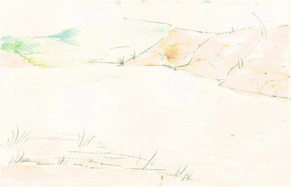 学画画 水彩画教程 水彩风景画 > 水彩画技法:水流的绘制步骤(2)