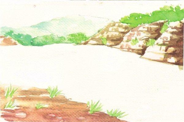 水彩画技法:水流的绘制步骤(2)图片