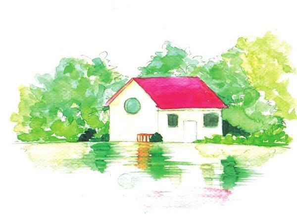 水彩湖泊风景的绘画技法与表现技巧教程(3)