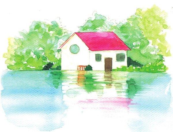 海洋风景水彩画绘画教程