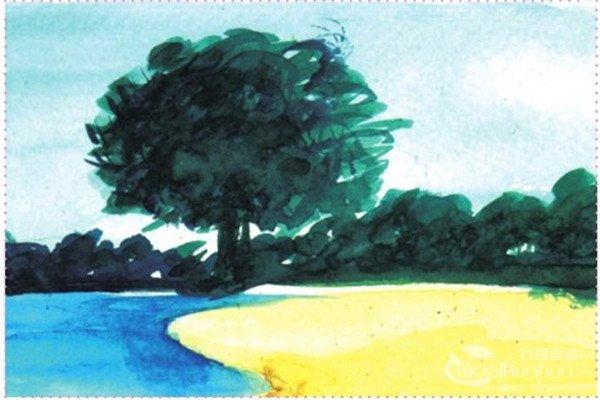 水彩湖泊风景的绘画技法与表现技巧