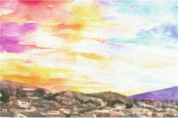 水彩技巧:用水彩绘制天空技巧